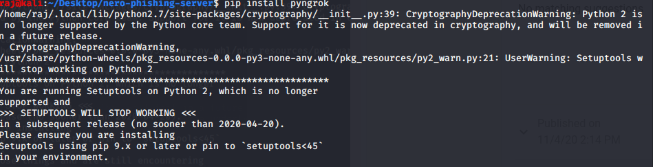 install the pngrok python module