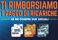 Rimborso Gillette : operazione di cashback per una confezione ricarica lame