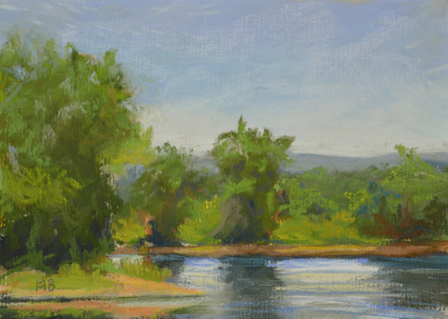 Lush June Light, 5x7 inches, En Plein Air