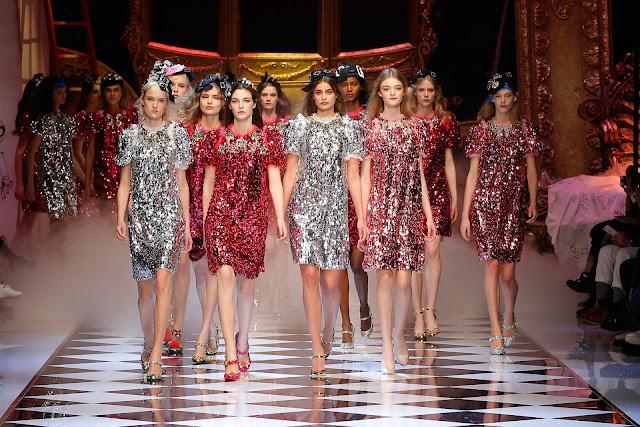 sfilata dolce gabbana alla Milano Fashion Week