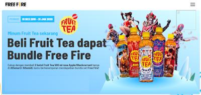 Sosro FF Garena, Beli Fruit Tea Redeem Kode dan dapat Bundle Free Fire gratis