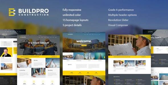 BuildPro v1.1.2 - Business, Building & Construction WordPress Theme