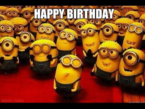 2nd Minion Happy Birthday Hubby