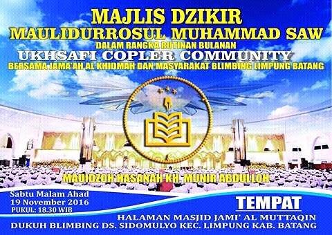Event Batang | 19 November 2016 | Majlis Dzikir Maulidurrosul Muhammad SAW