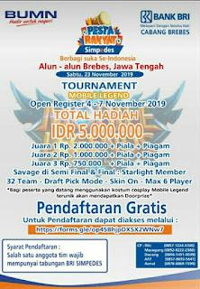 Info Tournament Mobile Legends Di Alun Alun Brebes