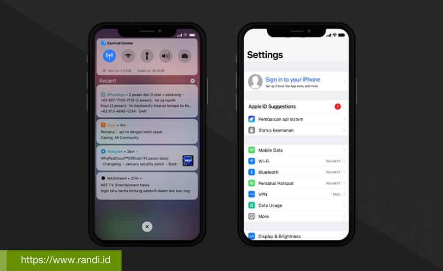 Tema MIUI 10 Mirip iOS 12 [iPhone Xs Max V10] - Pure iOS 12