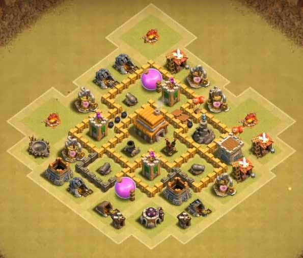 Base COC TH5 War 5