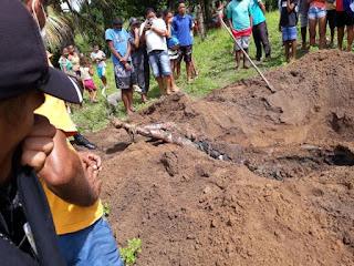 Corpo de viciado em drogas é encontrado enterrado com mãos e pés amarrados