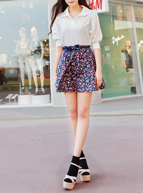 Model Rok Skeater Pendek Bahan Sifon