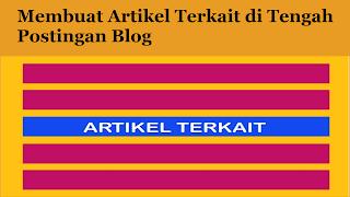 Membuat Artikel Terkait di Tengah Postingan Blog