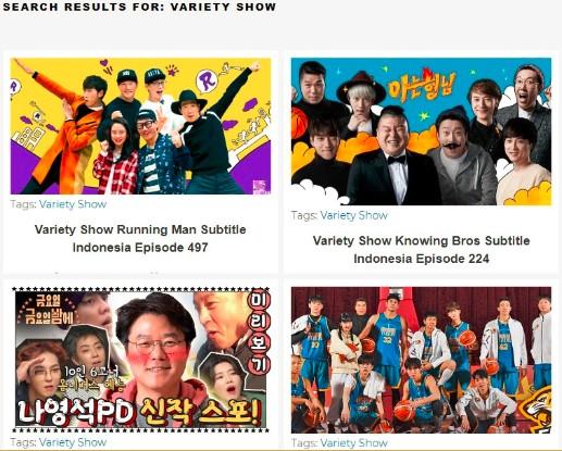 Website Tempat Nonton Variety Show Korea Sub Indo Terbaru 2020