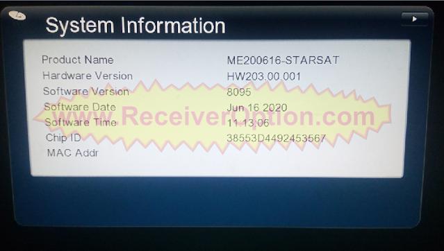 GX6605S STARSAT PRO U25 SOFTWARE NEW UPDATE 16 JUNE 2020