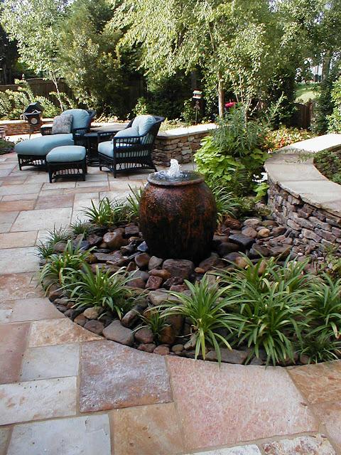 elegant stonescape landscape design
