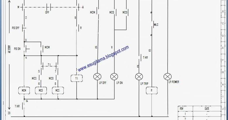 Etnik Sugitama Engineering  Gambar Diagram Panel Pompa Air 3 Phase Star Delta Dengan Level