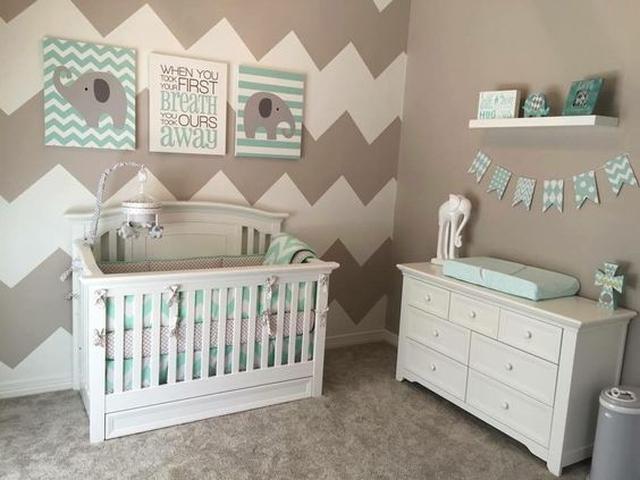 kącik dla niemowlaka szarość i pastele