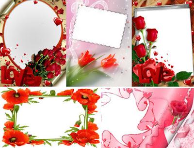 Bingkai Foto Bunga Cantik