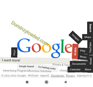 Google page undergoing gravity pull