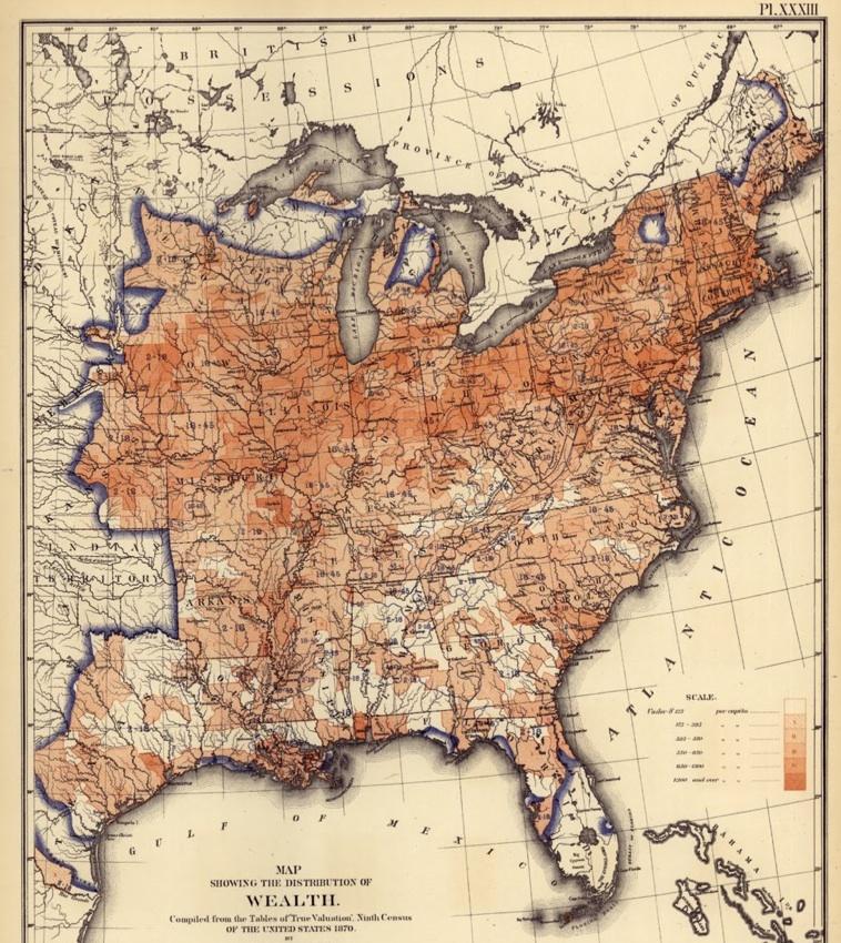 Tywkiwdbi Tai Wiki Widbee A Map Of Us Wealth Distribution - Us-map-civil-war-era