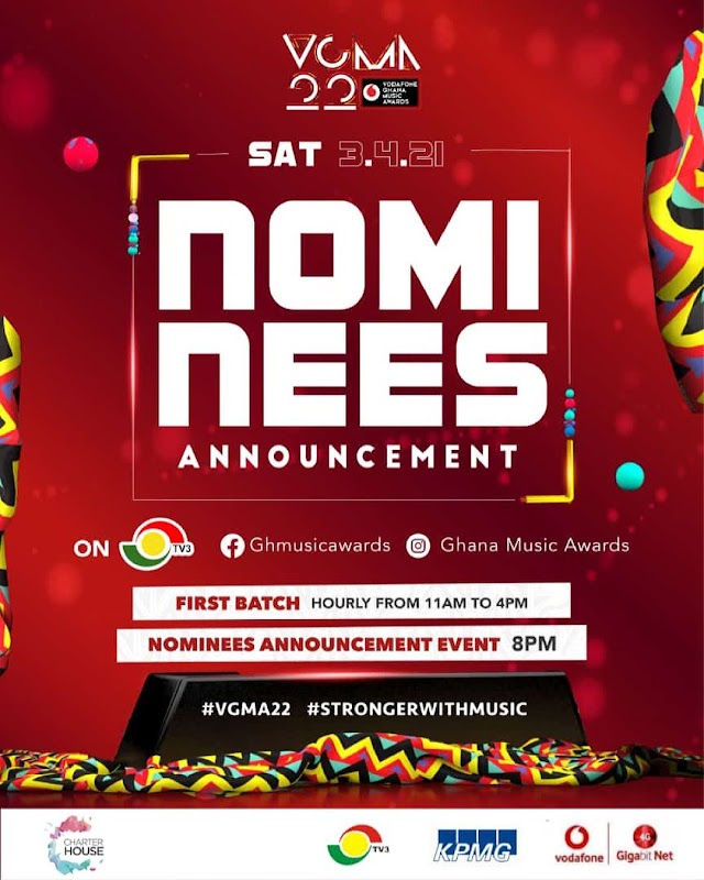 VGMA22: Nominees Announcement To Come Off On Saturday