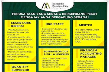 Lowongan Kerja Pramesta Mountain City Bandung