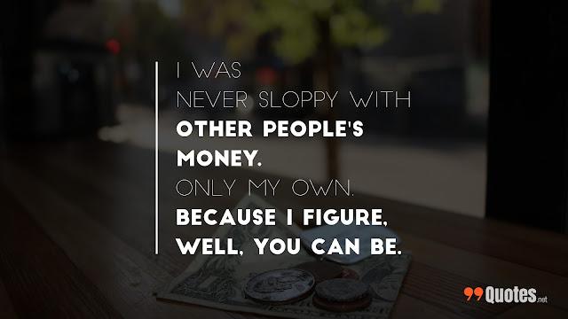 saying on money