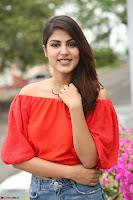 Rhea Chakraborty in Red Crop Top and Denim Shorts Spicy Pics ~  Exclusive 050.JPG