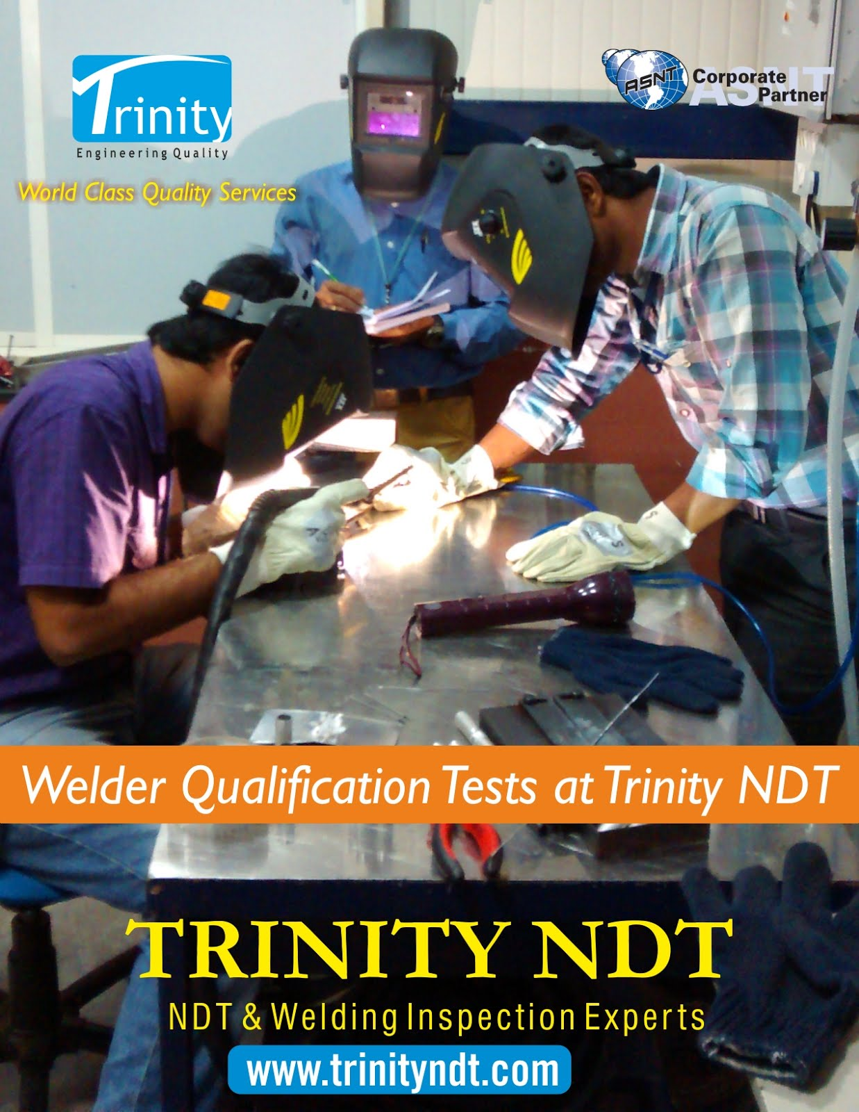 Welder Qualification Tests at Trinity NDT Bangalore India