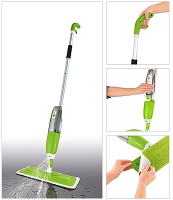 Sevia Professional Spray Mop with Best 360 Degree Easy Floor Cleaning for Home, Wet & Dry