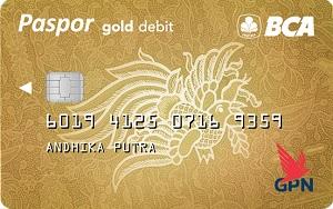 Kartu ATM BCA Paspor Gold Chip GPN