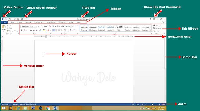 berikut ini artikel yang membahat Pengertian, Fungsi dan Mengenal Bagian Microsoft Word 2013