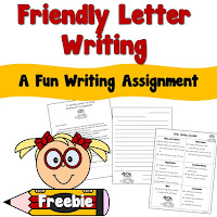 FREE Friendly Letter Writing Freebie
