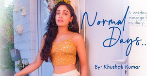 Khushali Kumar Normal days poem LYRICS