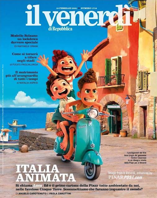 Pixar Luca Cover March 2021 Il Venerdì di Repubblica