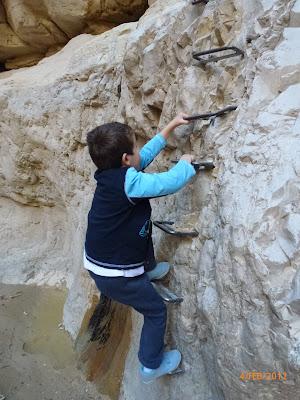 סולם חצוב בסלע