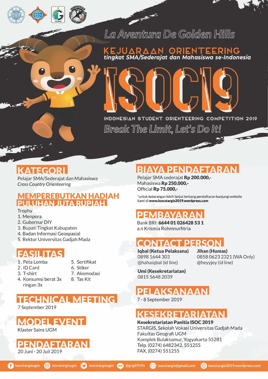 Indonesian Student Orienteering Competition (ISOC) STARGIS UGM • 2019