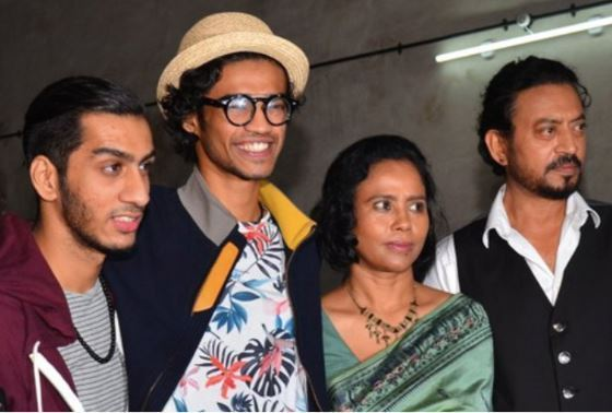 Irrfan Khan Family pic wife Sutapa and sons