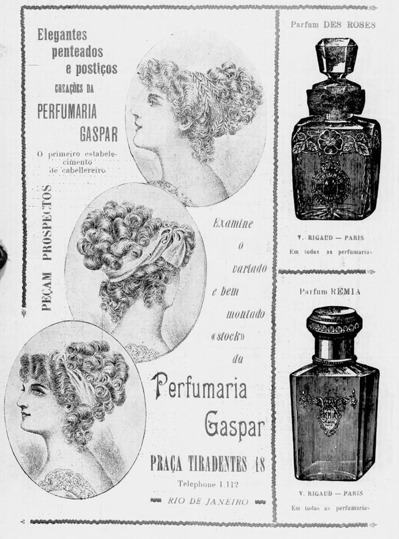 Propaganda veiculada em 1911 promovendo a Perfumaria Gaspar
