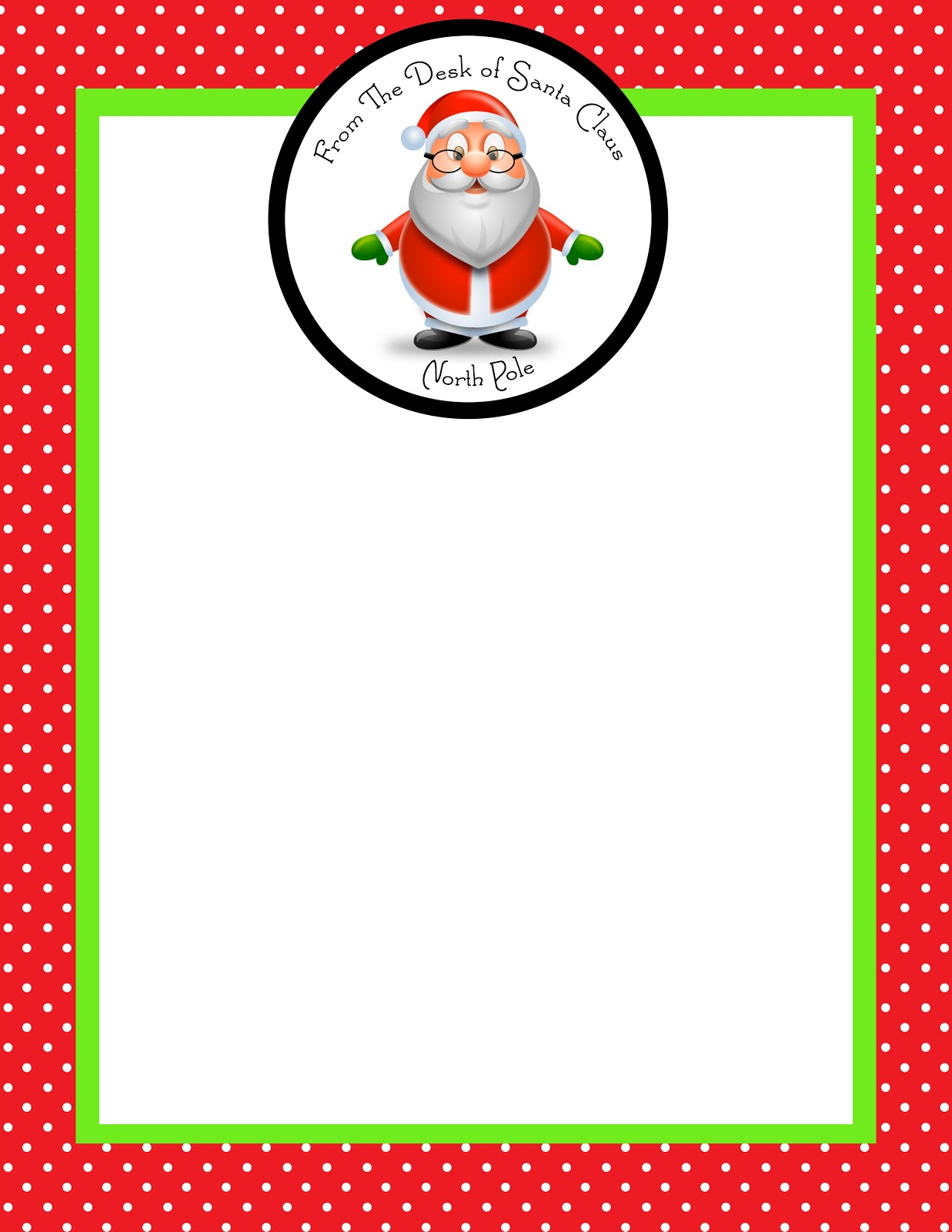 blank letter from santa template