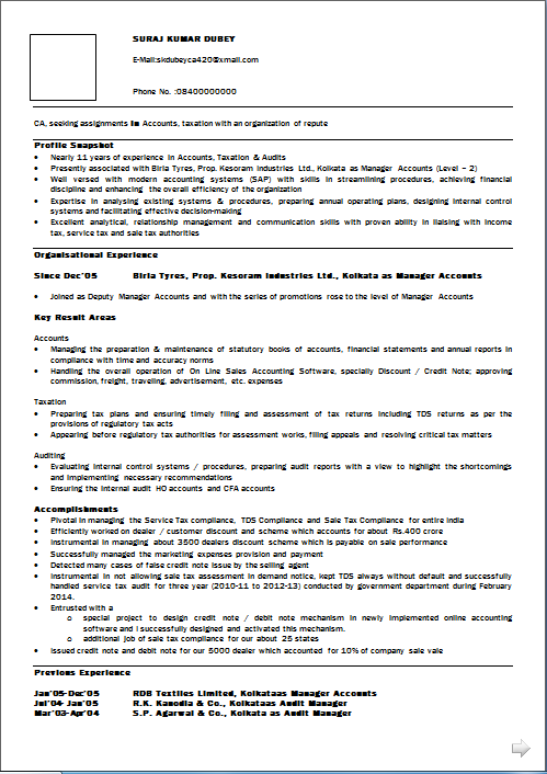 sample resume for 2 years experience in net - resume blog co excellent resume sample of chartered