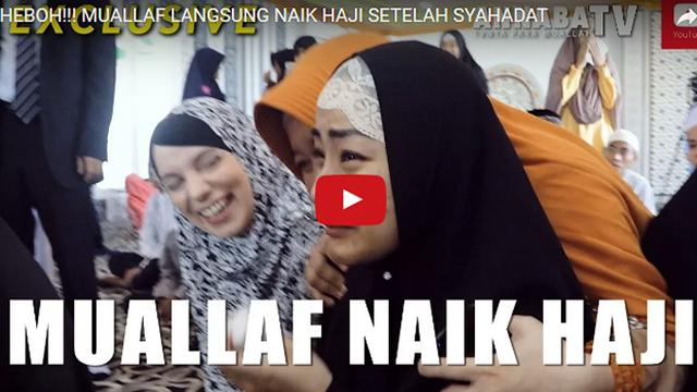 Allahu Akbar! Usai Syahadat Mualaf Ini Langsung Dapat Hadiah Ibadah Haji