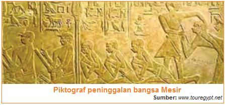 Piktograf peninggalan bangsa Mesir