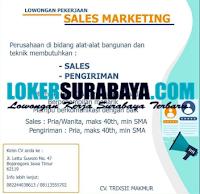 Karir Surabaya di CV. Trixsie Makmur Bojonegoro September 2020
