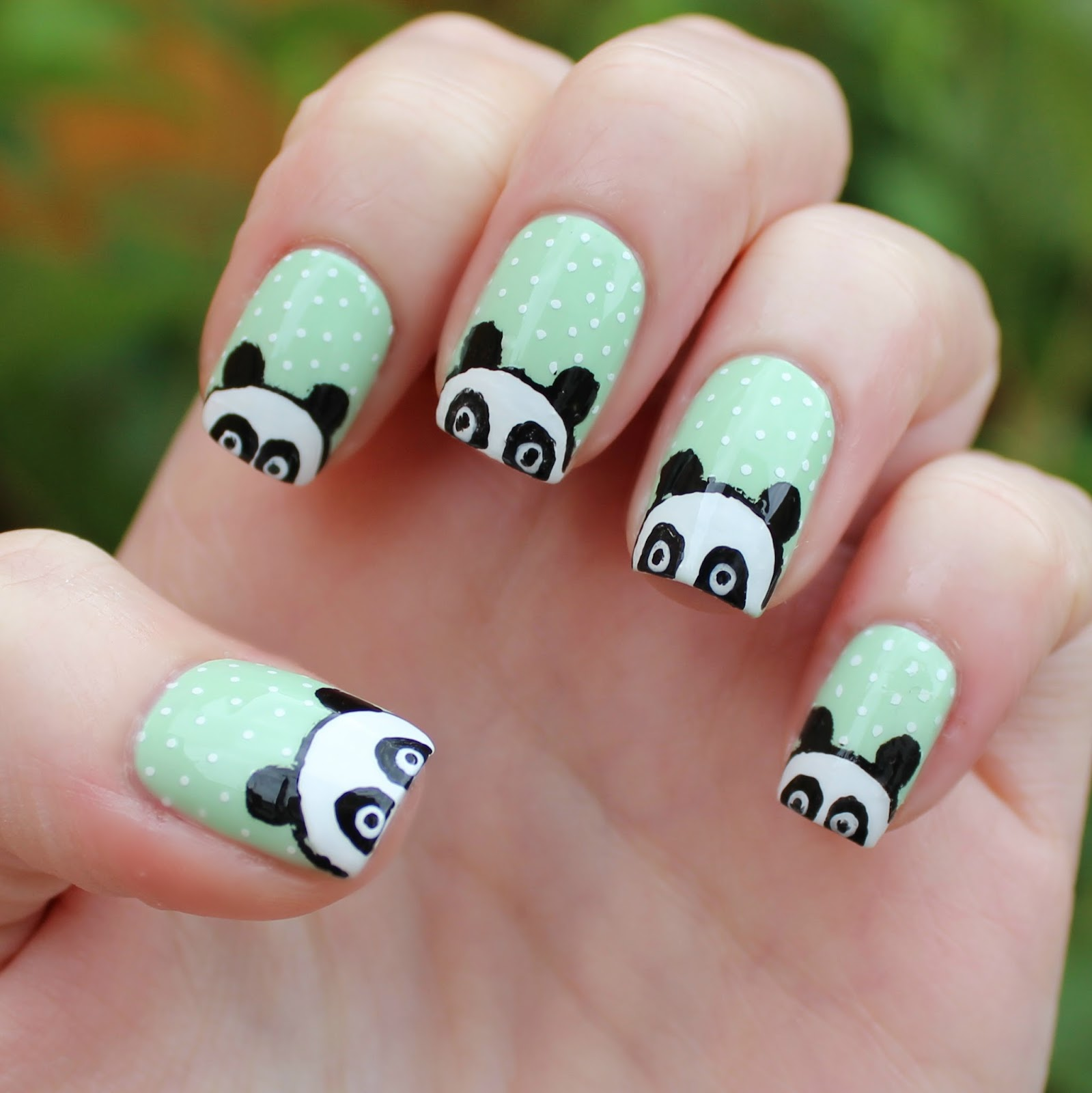 Panda Nail Art: Dahlia Nails: Big Fat Pandas