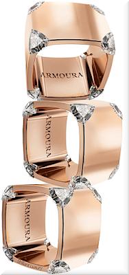 ♦Armoura Trilliant rose gold diamond rings #jewelry #armoura #brilliantluxury