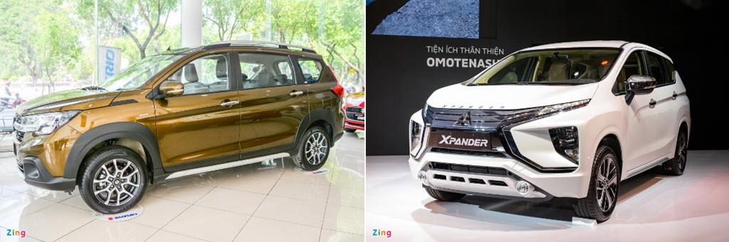 Suzuki XL7 và Mitsubishi Xpander - tân binh đối đầu 'vua' phân khúc
