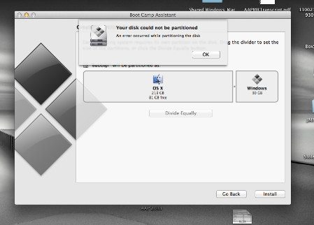 Mac Boot Camp Your Disk Could Not Be Partitioned