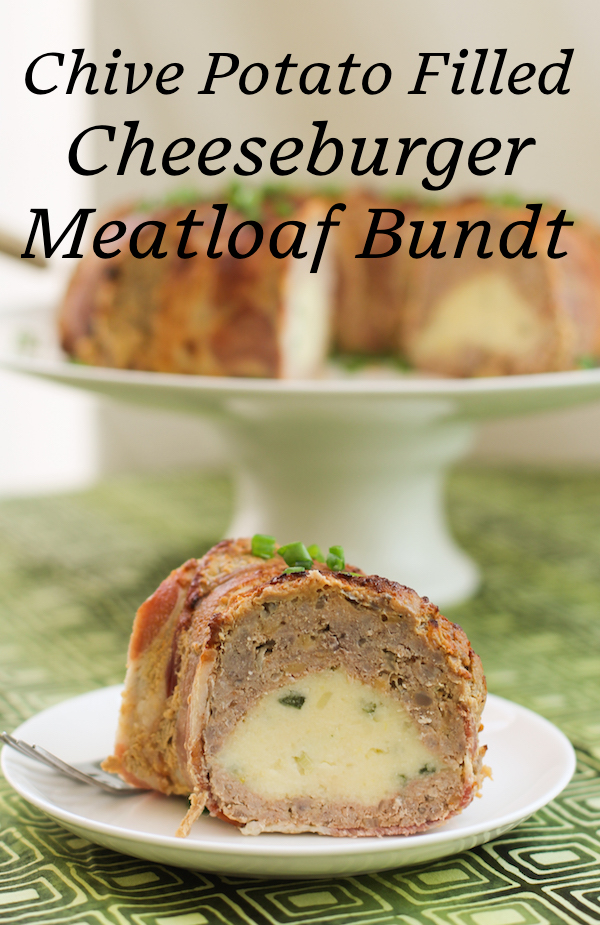 Food Lust People Love: Elevate meatloaf to a whole new level with this chive potato filled cheeseburger meatloaf Bundt recipe. It is a delicious new family favorite and a beautiful centerpiece for your Sunday supper or buffet table.