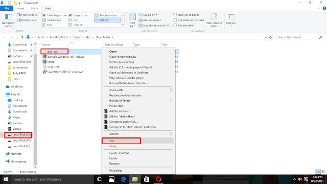 Dart SDK download and setup tutorial for Windows 10