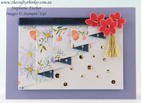 #thecraftythinker, #stampinup, #cardmaking, #funfold, fun fold, pleated card, Stampin' Up! Australia Demonstrator, Stephanie Fischer, Sydney NSW