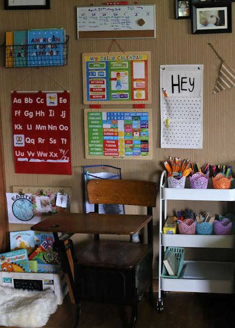Simple Homeschooling Space